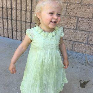 Biscotti Collezioni Pale Green Dress 👗 24 months